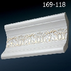 Decor-Dizayn 169-118 Карниз с орнаментом 2400х76х76мм