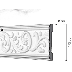 Gaudi Decor CR646 Молдинг с орнаментом 244х12,6х1,4см