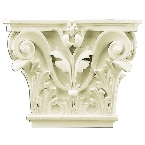 Лепнина Gaudi Decor PL557 Пилястра (капитель) 34,5х41,9х9,5см