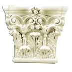 Лепнина Gaudi Decor PL551 Пилястра(капиткль) 16,3х17,8х4,5см